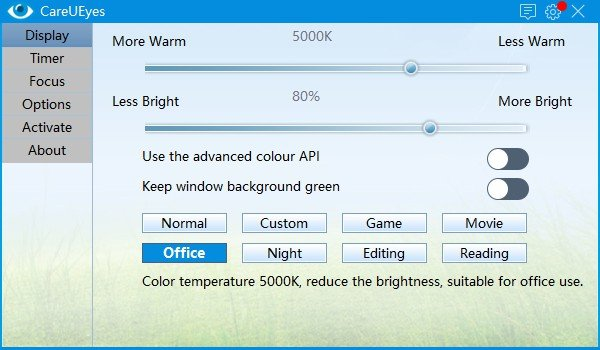 Careueyes Eye Protection Software Blue Light Filter For